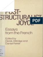 Cixous 1984 Joyce - The (R)Use of Writing in Attridge and Ferrer Eds Post-structuralist Joyce - Essays From the French