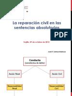 Reparación Civil y Sentencias Absolutorias