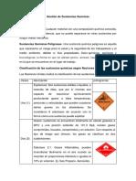 Gestión de Sustancias Químicas Termiado