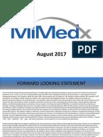 MiMedx Investor Presentation FINAL 2017 08 08