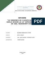 12  ORDENES taxonomicas