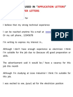 Expresiones Usadas Carta Application Letters