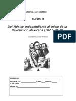 Cuadernillo de Actividades Historia 3ro b III