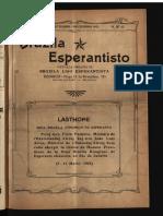 Brazila Esperantisto, Oktobro-Decembro 1922