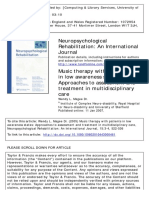 Music Therapy With Patients in Low Awareness States