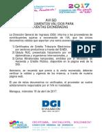 033-Aviso-documentos Válidos Para Ventas Exoneradas - 190417 (1)