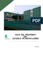 Guía Del Profesor Del Colegio de Bachilleres 2017