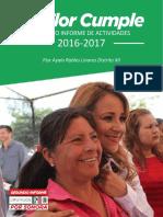 17-09-01 Documento de 2º informe de labores de la Diputada Flor Ayala.