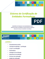 Sistema Certificação Entidades Formadoras