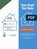 Teen Proof Your Home Bifold Brochure