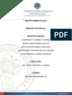 Informe Diseño Hidraulico CORREGIDO