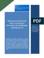 Investigación Obstáculos a La Litigancia Electoral de las Mujeres en Guatemala