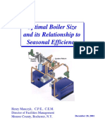 Optimal Boiler Size and Its Relation to Seasonal Efficiency