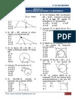 10.- Relaciones Metricas en Tr. y Circunferencia