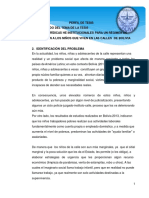 PERFIL de TESIS Bases Juridicas Para La Proteccion Al Niño de La Calle en Bolivia