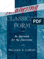 William E. Caplin - Analyzing Classical Form