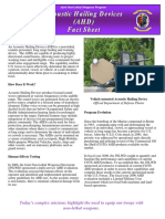 Acoustic Hailing Devices (AHD) FactSheet