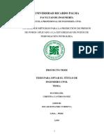 Tesis - Analisis de Metodos Para La Prediccion de Presion de Poros Aplicado a La Estabilidad de Pozos de Perforacion