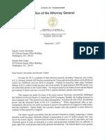 TN Attorney General DACA statement - 9.1.17