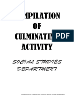 QNHS-Social Studies Department Compilation of Culminating Activity