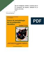 Curso de Metodología de Investigación Científica