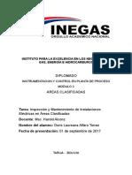 Inspección y Mantenimiento de Instalaciones Eléctricas en Áreas Clasificadas