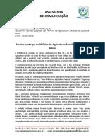 16-05-2016 - Paraíso Participa Da 3ª Feira Da Agricultura Familiar Do Leste de Minas