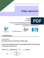 WNvanWieringen HDDA Lecture4 RidgeRegression 20162017