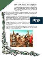 Fundación de La Ciudad de Arequipa