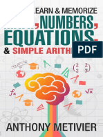 How to Learn and Memorize Math, - Anthony Metivier