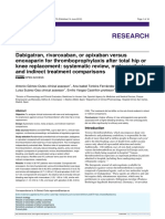 3.1) Dabigatran, Rivaroxaban, Or Apixaban Versus Enoxaparin for Thromboprophylaxis After Total Hip or Knee Replacement. Systematic Review, Metaanalysis, And Indirect Treatment Comparisons, 2012.