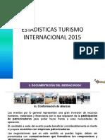 Estadisticas Turismo Internacional 2015