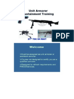 Unit Armorer Sustainment Training