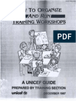 How To Organize and Run Training Workshops UNICEF