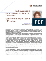 Myrtha Chokler El Concepto de Autonomia en El Des. Infantil