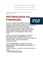 Metodologia Na Formaçao-rcc