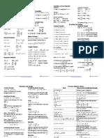 Algebra Cheat Sheet Reduced