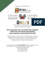 Alianza Statement on Latin@ Family Violence
