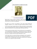 Biografía de Benito Juárez en Inglés