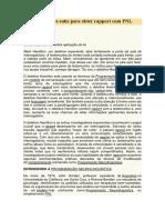Habilidades Sutis Para Obter Rapport Com PNL