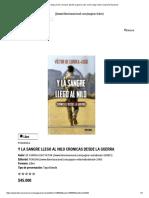 Y La Sangre Llego Al Nilo Cronicas Desde La Guerra _ de Currea Lugo Victor _ Librería Nacional