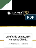 Certificado en RH - CRH-31 Sesiones 1 Y 2