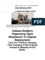 Military Resistance 8H10 Indiana Soldiers Resist Deployment