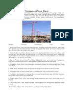 Ahapan Pekerjaan Pemasangan Tower Crane