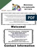september kindergarten information