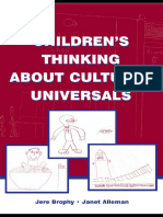 Children's Thingking About Cultural Universal