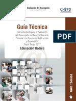 Guía Técnica 2017-2018. Docentes, Directores, Supervisores de Preescolar, Primaria y Secundaria