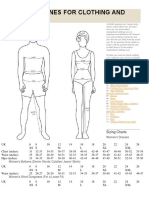 Size Guidelines for Clothing and Shoes