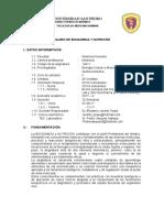 Silabo Actual Bioquimica 2017