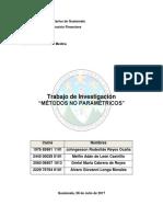 Trabajo de Investigacion Sobre Métodos No Paramétricos